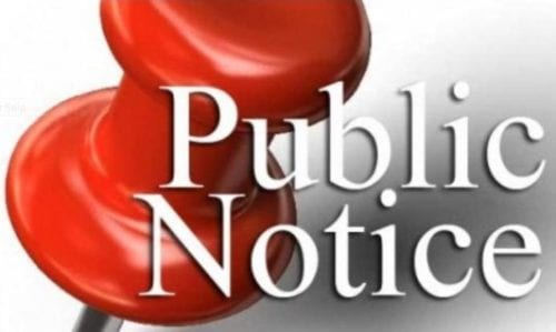 Public Notice meeting