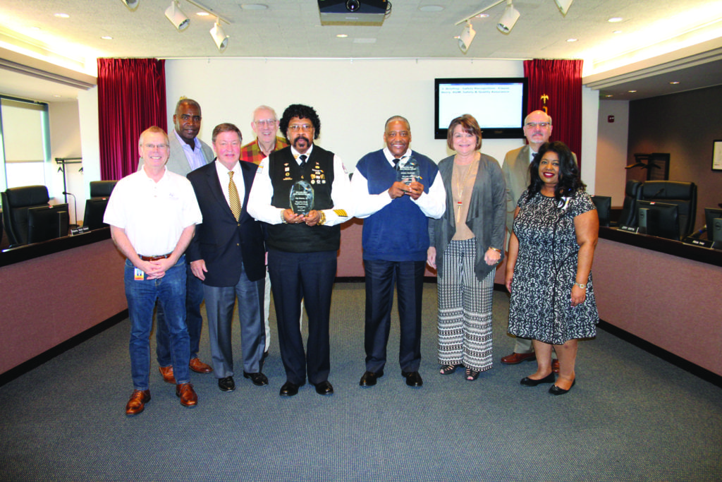 MARTA Million Mile Safe Driver awardees and Board Members