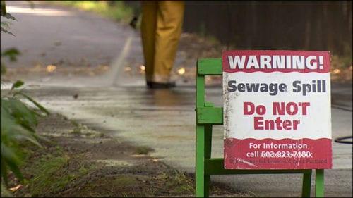 sewage spill graphic