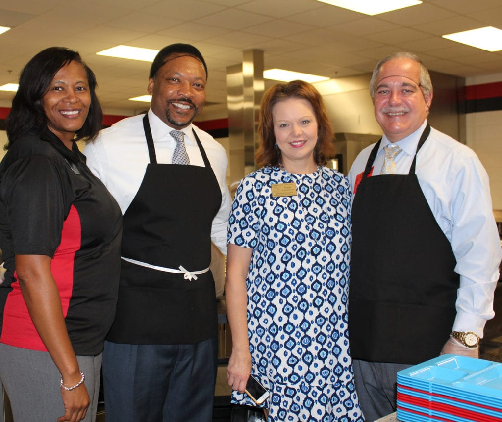 RCPS School Lunch Week CMS Principal Allison Barbour,Probate Judge Clarence Cuthpert,RCPS Sch Nutr Ex Dir Peggy Lawrence,State Supt Richard Woods
