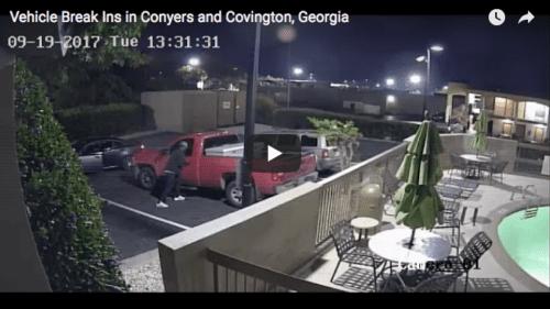 conyers car break in video still