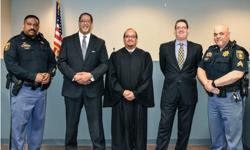 Judge Sheridan, Mayor, Solicitor and deputies_WEB