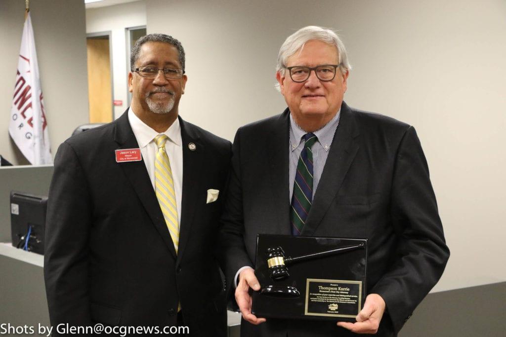 Mayor Jason Lary AND Tom Kurrie
