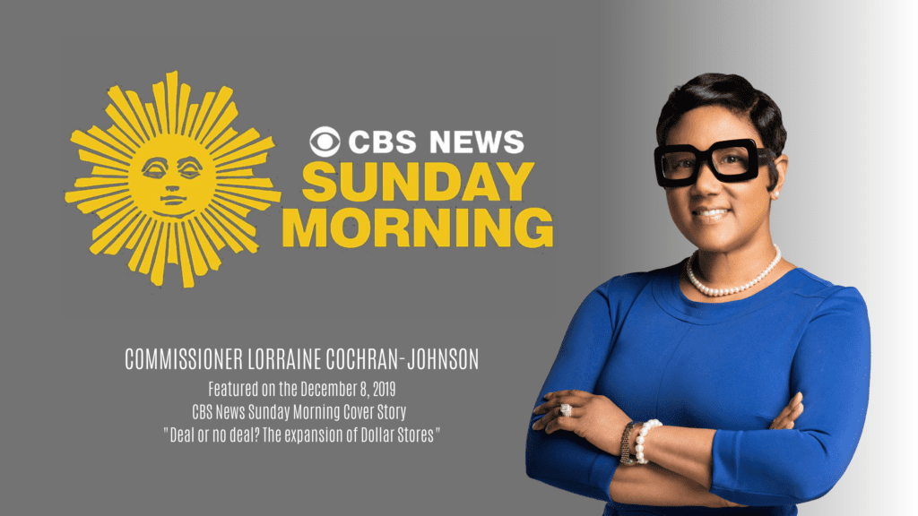 Commissioner Lorraine Cochran-Johnson on CBS Sunday Morning
