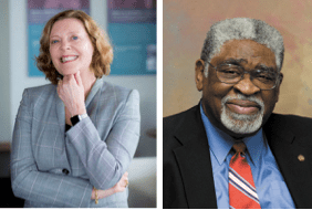 Dr. Claire Sterk and Dr. Eugene Walker