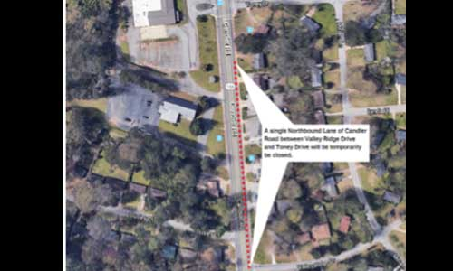 Map Candler Rd
